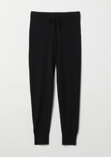 H&M H & M - Cashmere Joggers - Black