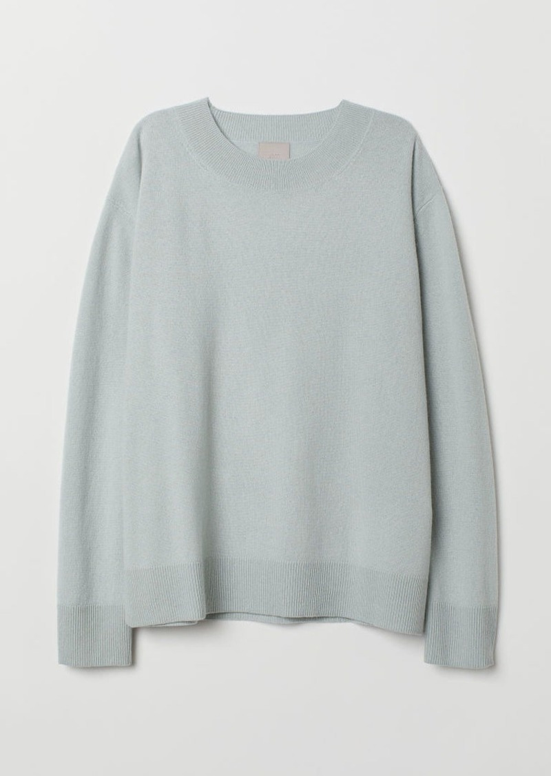 H&M H & M - Cashmere Sweater - Turquoise