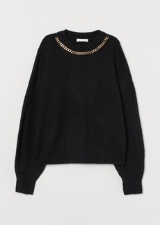 H&M H & M - Chain-detail Sweater - Black