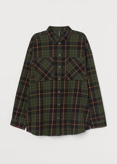 H&M H & M - Checked Cotton Shirt - Green