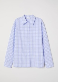 H&M H & M - Checked Cotton Shirt - Purple