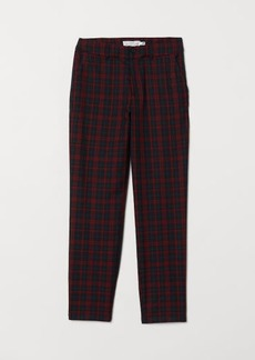 H&M H & M - Checked Pants - Red