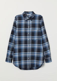 H&M H & M - Checked Shirt - Blue