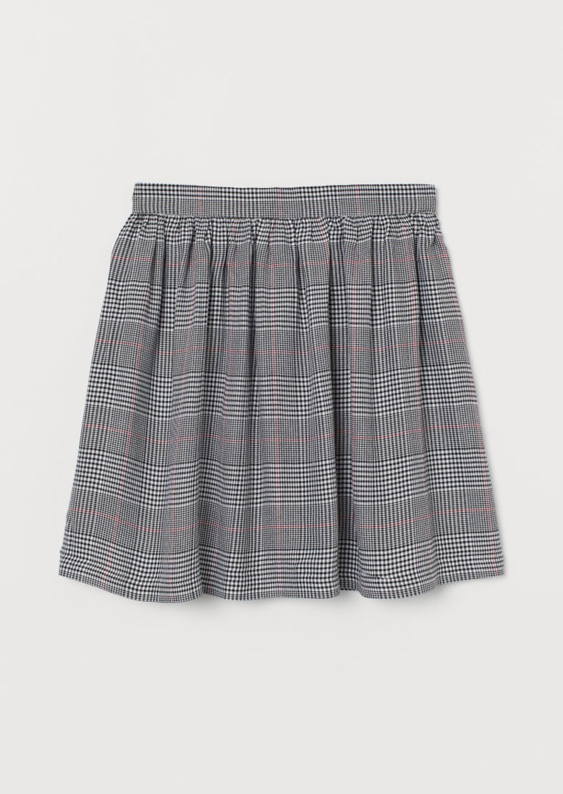 H&M H & M - Checked Skirt - Red