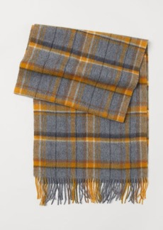 H&M H & M - Checked Wool Scarf - Yellow