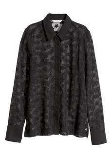 H&M H & M - Chiffon Blouse - Black