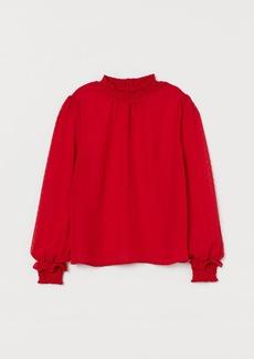 H&M H & M - Smock-detail Blouse - Red