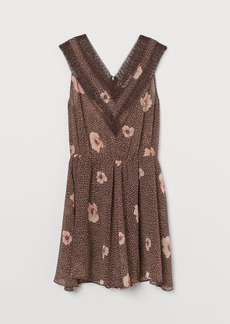 H&M H & M - Chiffon Jumpsuit - Brown