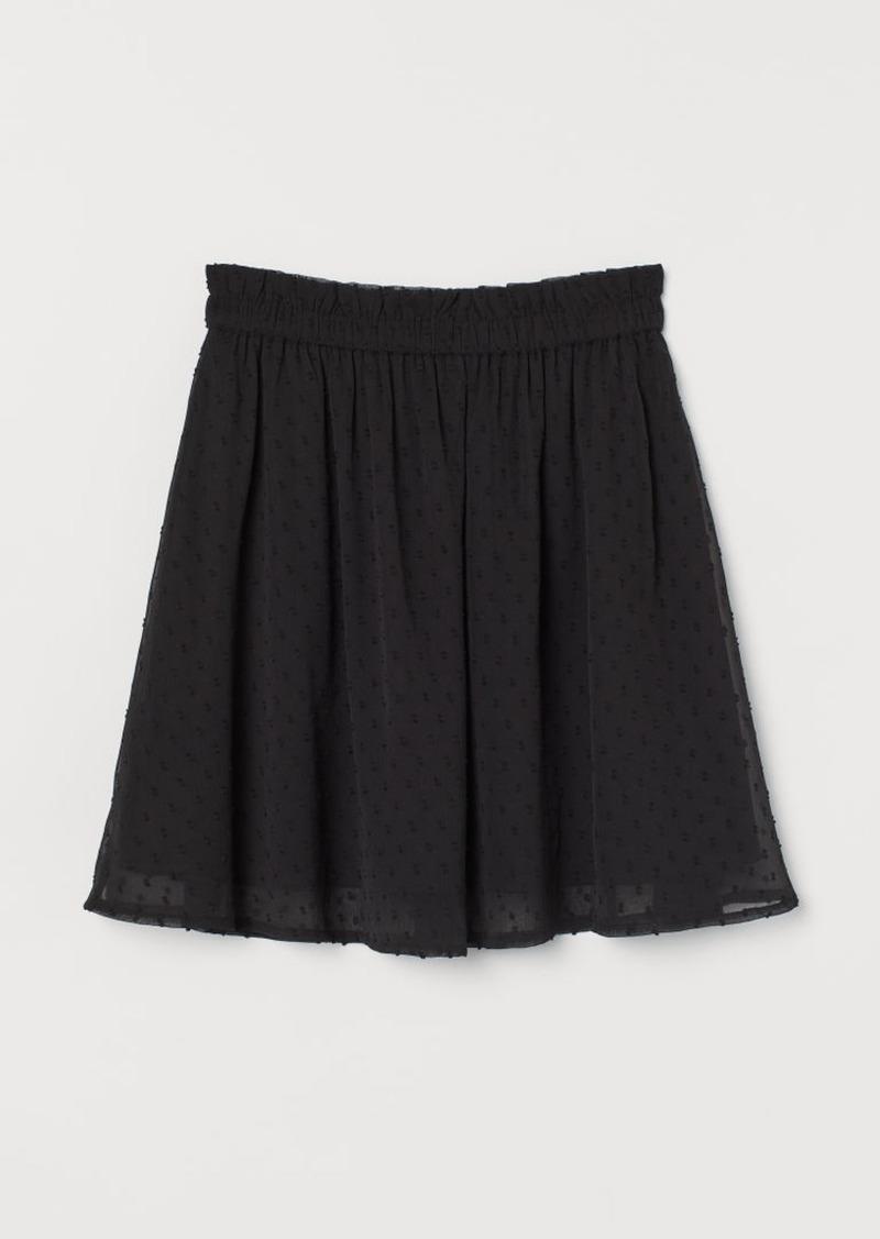 H&M H & M - Chiffon Skirt - Black