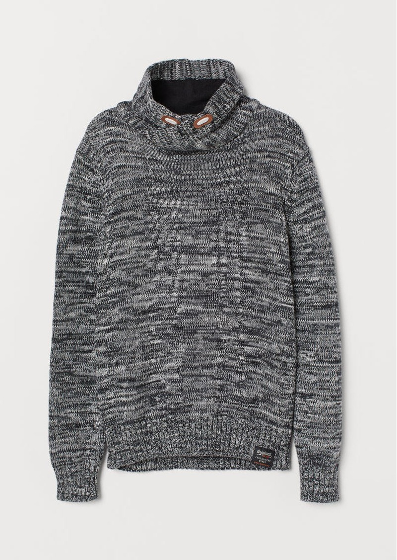 H&M H & M - Chimney-collar Sweater - Black