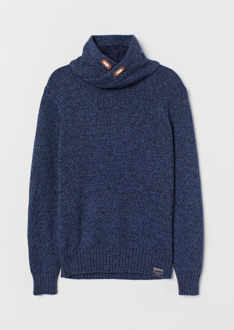 H&M H & M - Chimney-collar Sweater - Blue