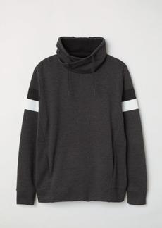 H&M H & M - Chimney-collar Sweatshirt - Black