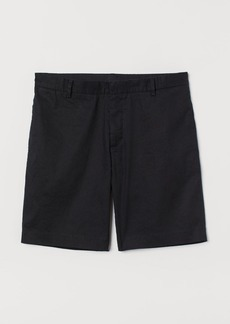 H&M H & M - Chino Shorts Slim fit - Black