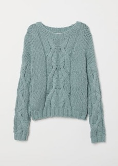 H&M H & M - Chunky-knit Sweater - Turquoise