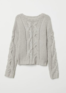 H&M H & M - Chunky-knit Sweater - Gray