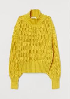 H&M H & M - Chunky-knit Sweater - Yellow