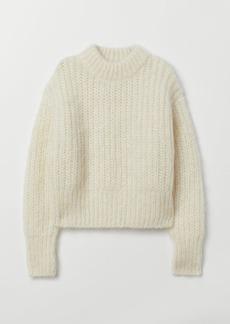 H&M H & M - Chunky-knit Wool Sweater - White