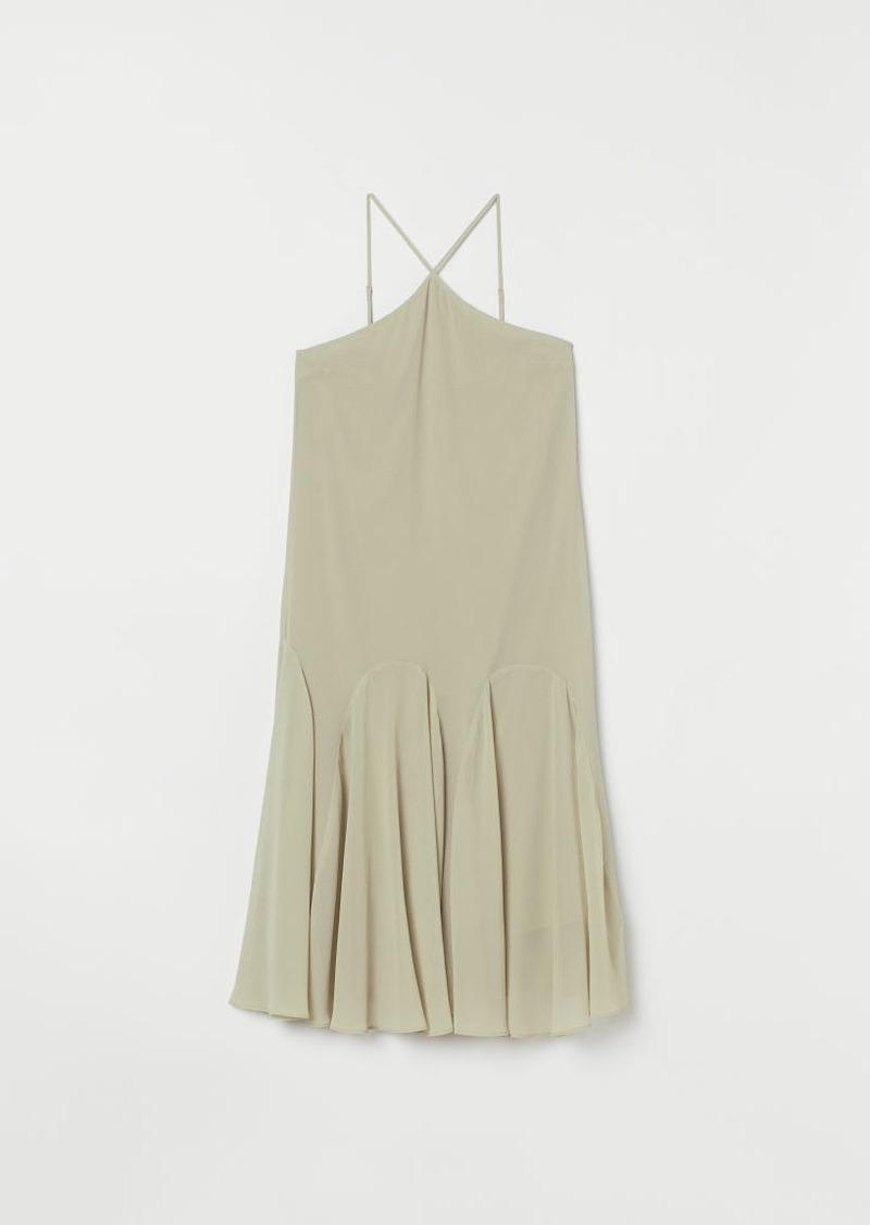 H&M H & M - Circle-cut Dress - Beige