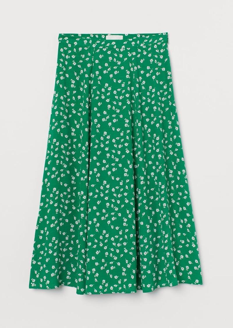H&M H & M - Circle Skirt - Green