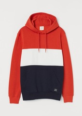 H&M H & M - Color-block Hoodie - Orange