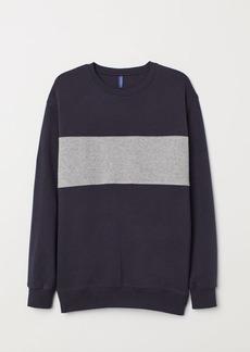 H&M H & M - Color-block Sweatshirt - Blue