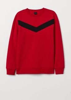H&M H & M - Color-Block Sweatshirt - Red