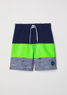 H&M H & M - Color-block Swim Shorts - Green