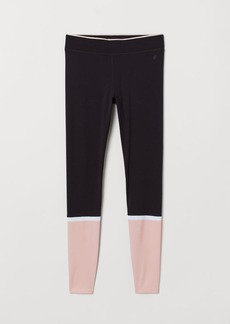 H&M H & M - Compression Fit Running Tights - Black