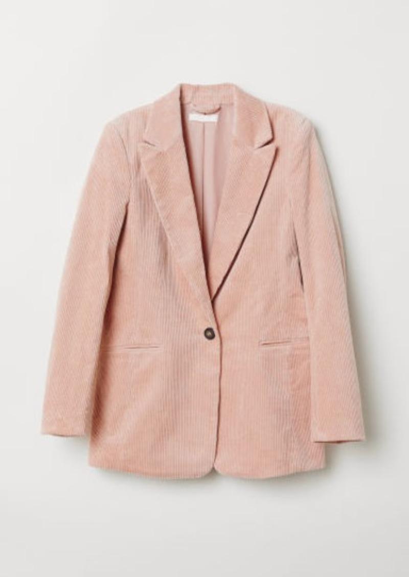 H & M - Corduroy Blazer - Orange