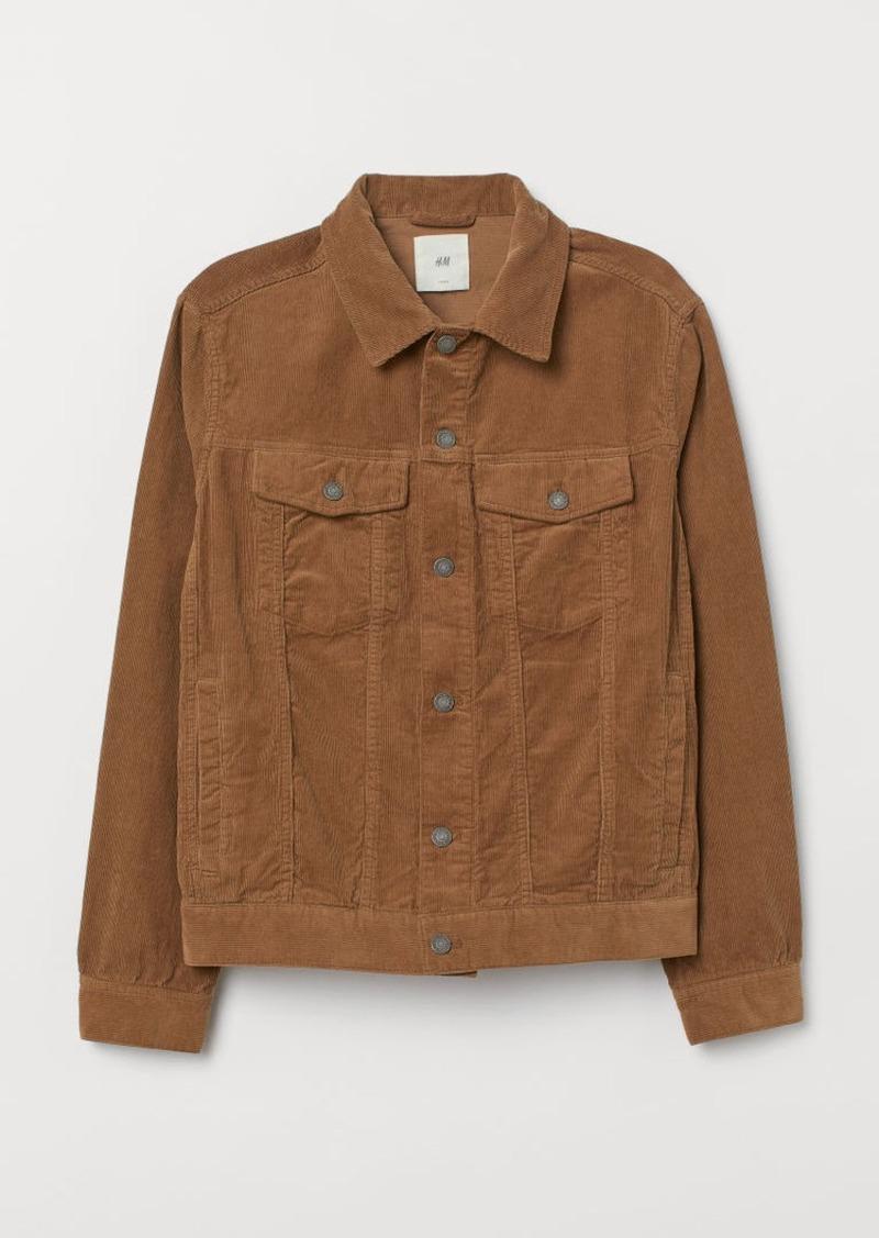 H&M H & M - Corduroy Jacket - Beige