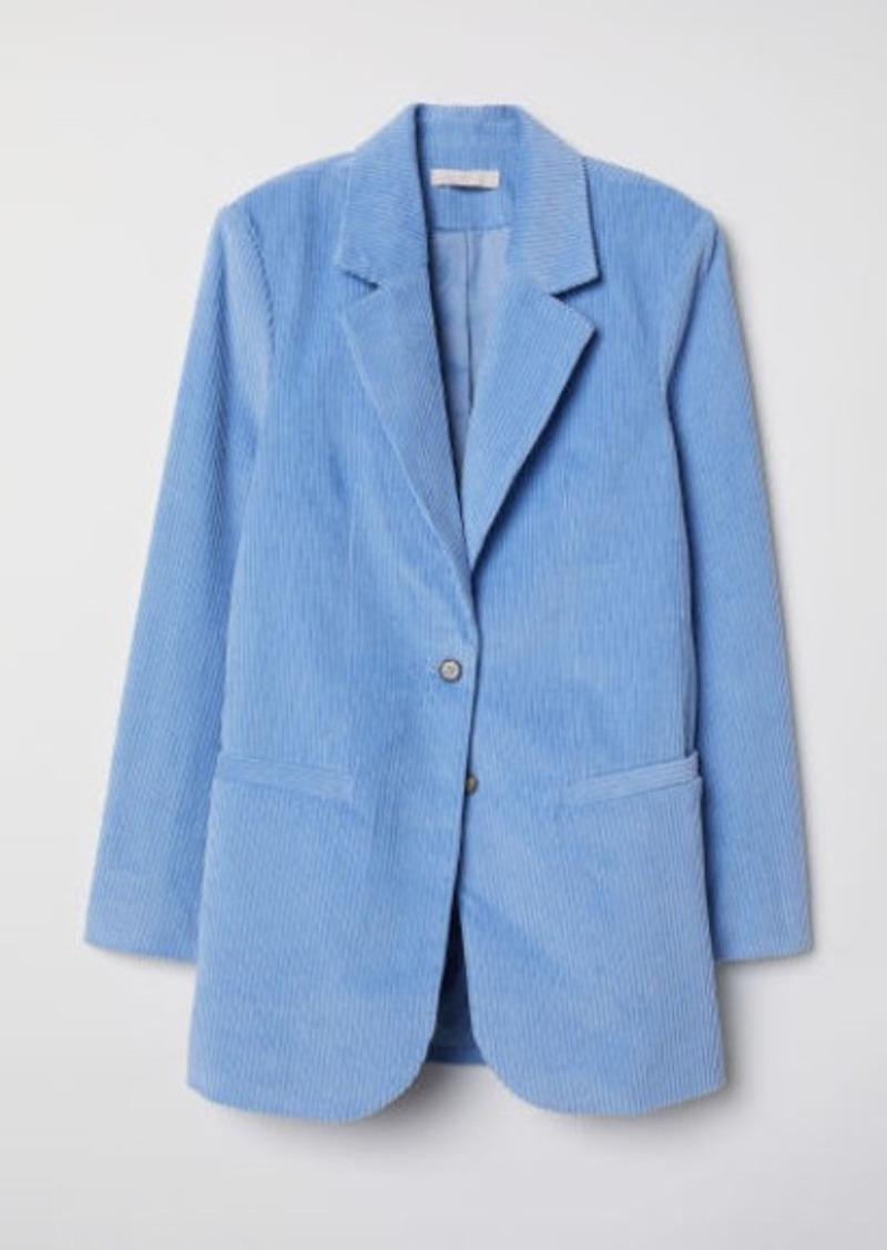 H&M H & M - Corduroy Jacket - Blue
