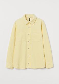 H&M H & M - Corduroy Shirt - Yellow