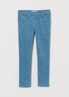 H&M H & M - Corduroy Treggings - Turquoise