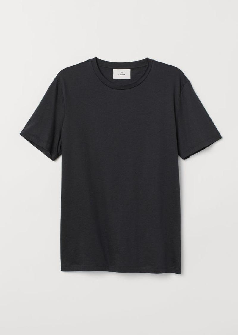 H&M H & M - Cotton and Silk T-shirt - Black