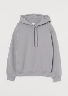 H&M H & M - Cotton-blend Hoodie - Gray