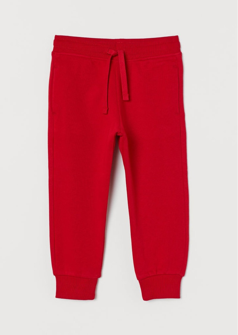 H&M H & M - Cotton-blend Joggers - Red