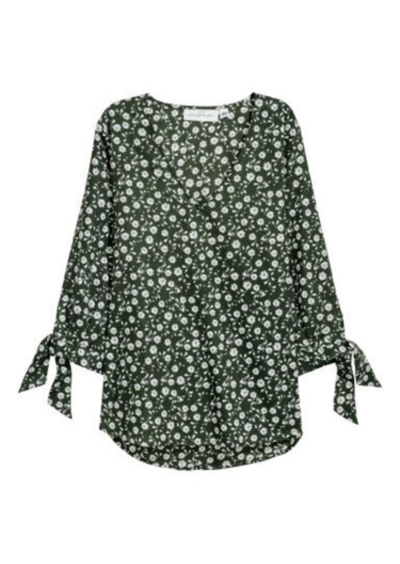H&M H & M - Cotton Blouse - Green
