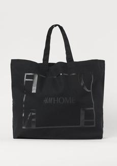 H&M H & M - Cotton Canvas Shopper - Black