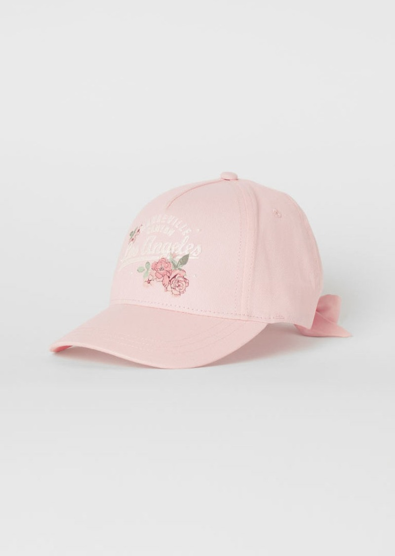 H&M H & M - Cotton Cap with Bow - Pink