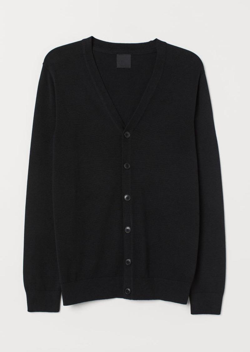 H&M H & M - Cotton Cardigan - Black