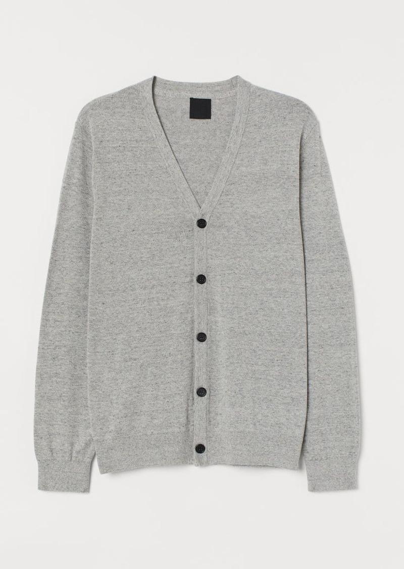 H&M H & M - Cotton Cardigan - Gray