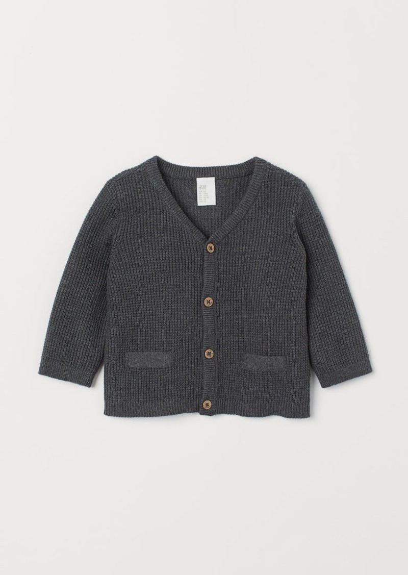 H&M H & M - Cotton Cardigan - Gray