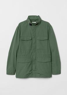 H&M H & M - Cotton Cargo Jacket - Green