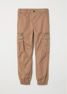 H&M H & M - Cotton Cargo Joggers - Brown