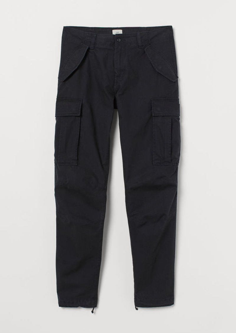 H&M H & M - Cotton Cargo Pants - Black