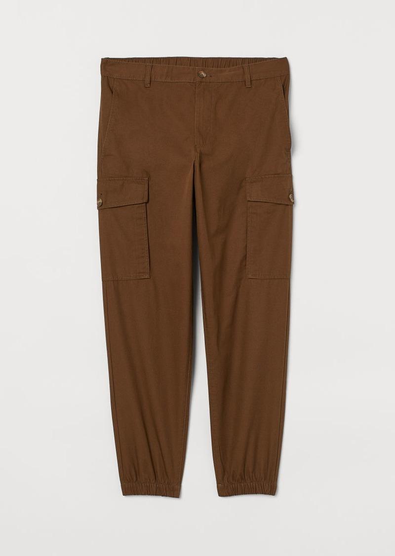 H&M H & M - Cotton Cargo Pants - Brown