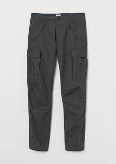 H&M H & M - Cotton Cargo Pants - Gray