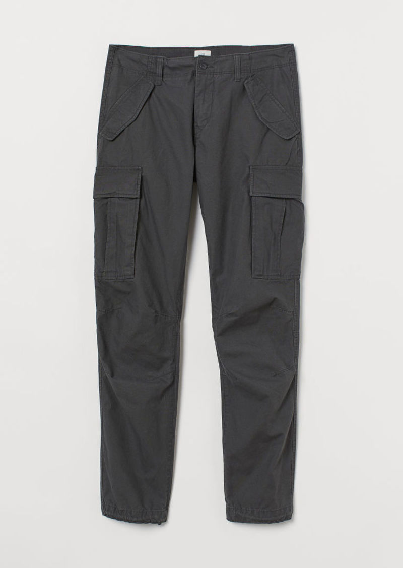 H&M H & M - Cotton Cargo Pants - Gray