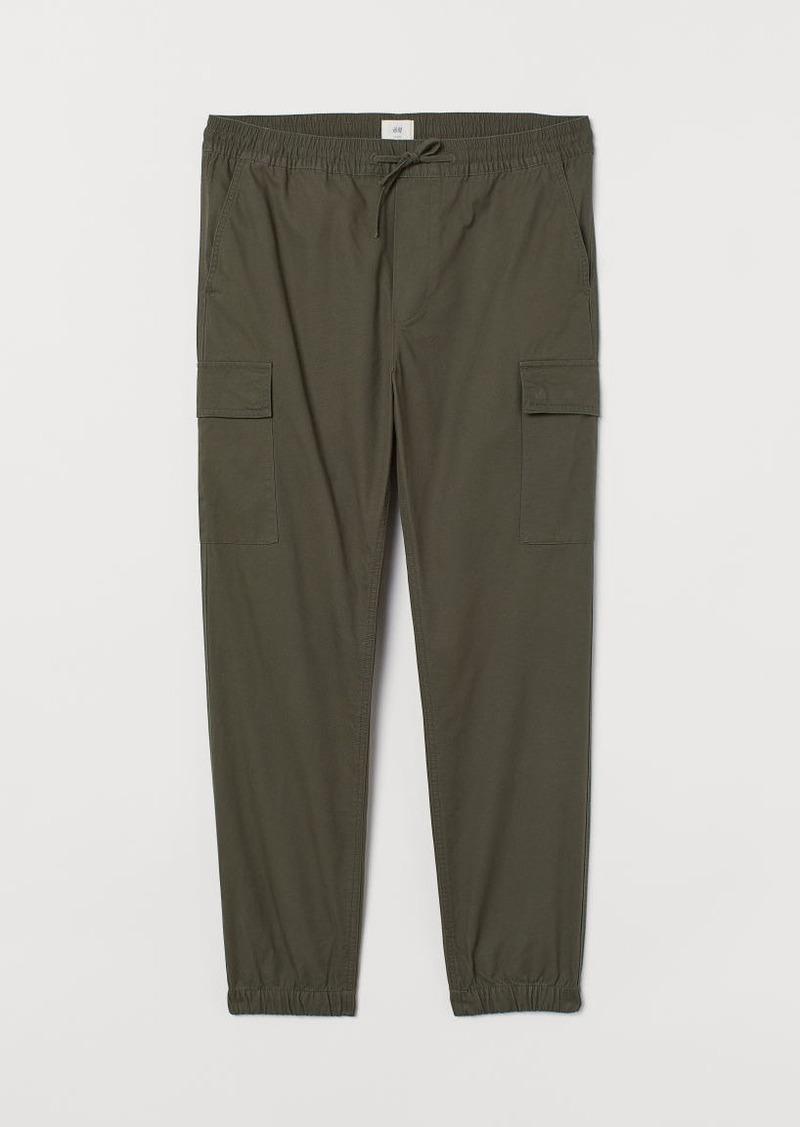 H&M H & M - Cotton Cargo Pants - Green