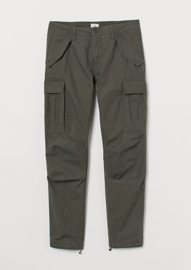 H&M H & M - Cotton Cargo Pants - Green